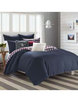 Nautica Seaward Twill Flannel Reversible Comforter Set by Nautica