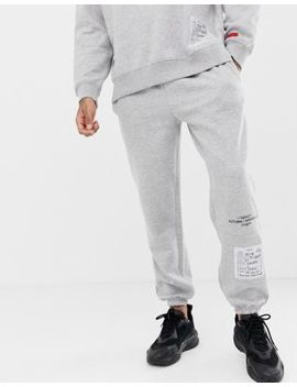 Boohoo Man Joggers With Aw18 Label In Grey by Boohoo Man