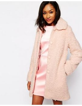 Warehouse Fluffy Teddy Coat by Warehouse