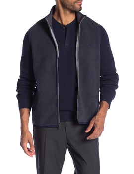 Herringbone Polar Fleece Vest by Brooks Brothers