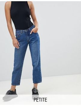 Missguided Petite Wrath Turn Up Straight Leg Jeans by Missguided Petite