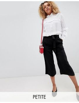 New Look Petite Tie Waist Culottes by New Look Petite