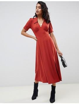 Asos Design Midi Tea Dress by Asos Design