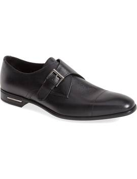 Saffiano Monk Strap Shoe by Prada