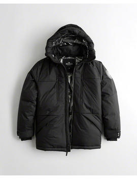 Down Blend Hooded Puffer Parka by Hollister