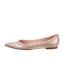 Rockstud Ballerina Flats by Valentino