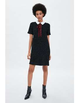 Dress With Velvet Tie  View All Dresses Woman by Zara