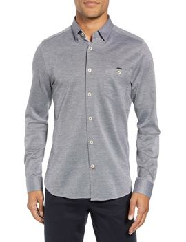 Timothy Slim Fit Cotton Jersey Shirt by Ted Baker London