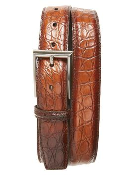 Crocodile Leather Belt by Magnanni