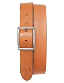 Reversible Hibiscus Print Leather Belt by Tommy Bahama