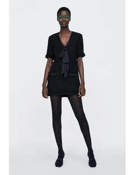 Tweed Dress With Bow  Dress Timewoman Corner Shops by Zara
