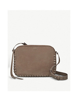 Kepi Lea Whipstitch Panel Leather Cross Body Bag by Allsaints