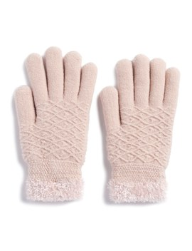 Women's Sonoma Goods For Life™ Diamond Knit Cozy Gloves by Kohl's