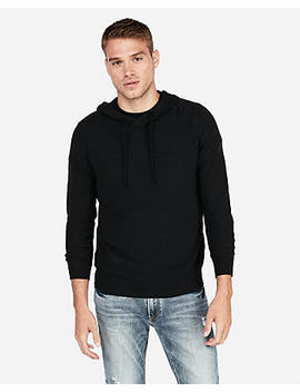 Textured Popover Hooded Sweater by Express