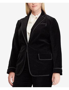 Plus Size Velvet Blazer by Lauren Ralph Lauren