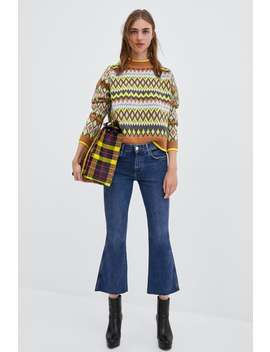 Hi  Rise Flared Cropped Jeans High Waist Rises Jeans Trf by Zara