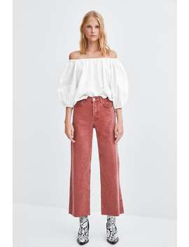 Colored Hi  Rise Wide Leg Jeans High Waist Rises Jeans Trf by Zara