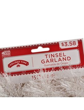 Holiday Time 15 Ft Snow Tinsel Garland by Holiday Time