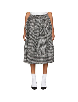 Black & White Houndstooth Skirt by Tricot Comme Des GarÇons