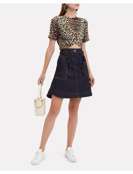 Ruffled Denim Mini Skirt by Carven