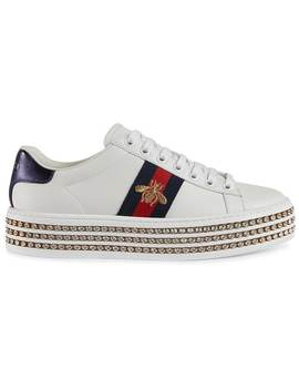 Tenis Ace Con Cristales by Gucci