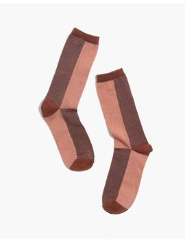 Colorblock Night Sparkle Trouser Socks by Madewell