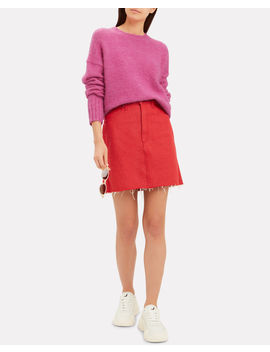 Brushed Wool Pink Sweater by Helmut Lang