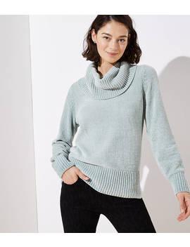 Petite Chenille Cowl Neck Sweater by Loft
