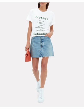 Care Label Graphic Tee by Proenza Schouler Pswl