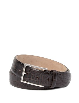 T Lelion Croc Embossed Leather Belt by Boss