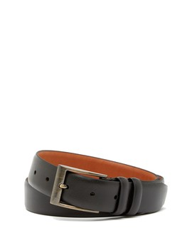 Narrow Leather Belt by Boconi
