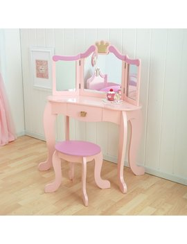 Kid Kraft Princess Vanity Set With Mirror & Reviews by Kid Kraft