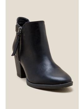Jamie Zipper Ankle Boot by Francesca's