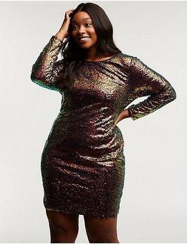 Plus Size Sequin Bodycon Dress by Charlotte Russe
