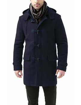 Bgsd Men's 'tyson' Wool Blend Leather Trimmed Toggle Coat by Bgsd