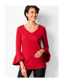 Ponte V Neck Top by Talbots