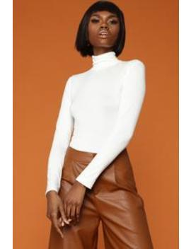 Poppin' Rubber Bands Bodysuit   Ivory by Fashion Nova