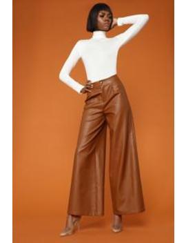 Emotional Gangster Trouser   Cognac by Fashion Nova