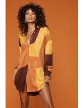 Okurr Top   Brown/Combo by Fashion Nova