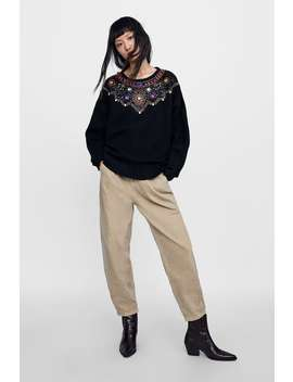 limited-edition-bejeweled-sweater--view-allknitwear-woman by zara