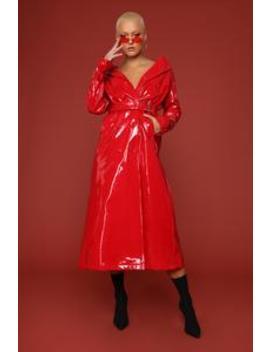 I Like Stunntin' Trench Jacket   Red by Fashion Nova