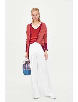 Two  Toned Top View All Knitwear Woman by Zara