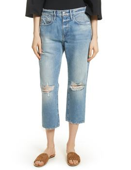 Le Stevie Distressed Crop Jeans by Frame
