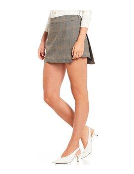 Jay Plaid Menswear Mini Skort by Gianni Bini