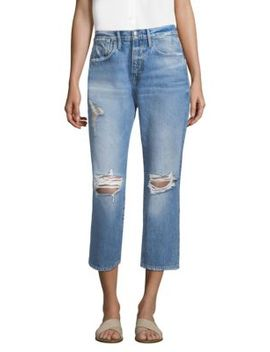 Le Stevie Cropped Distressed Jeans by Frame