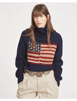 Flag Wool Turtleneck Sweater by Ralph Lauren