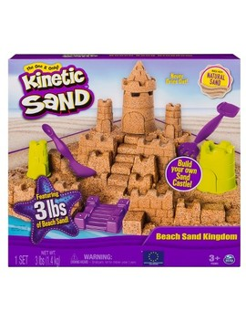 Kinetic Sand   Beach Sand Kingdom Playset With 3lbs Of Beach Sand, For Ages 3 And Up by Kinetic Sand