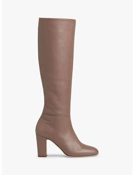 L.K.Bennett Kristen Knee High Boots, Pink Nude Rose Leather by L.K.Bennett