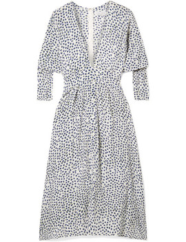 Nina Belted Floral Print Crepe Midi Dress by Faithfull The Brand