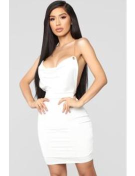 Don't Yank My Chain Mini Dress   White by Fashion Nova